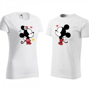 Set triček na Valentýna s potiskem mickey a minnie