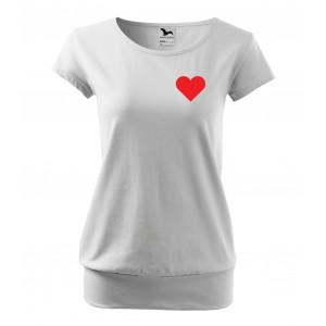 Dámské valentýnské tričko s volným střihem