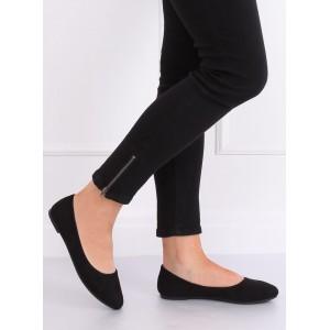 Moderní dámské balerínky v černé barvě