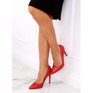 Luxusní červené dámské lodičky na vysokém podpatku