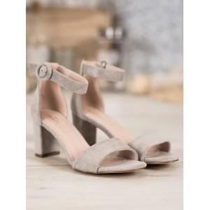 Pohodlné dámské sandály na léto v šedé barvě