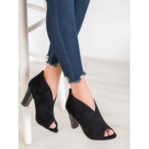 Dámská letní kotníčková obuv na vysokém podpatku