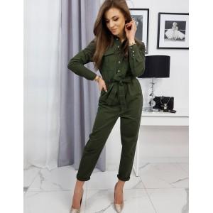 Moderní dámský overal SORENTI v módní zelené barvě