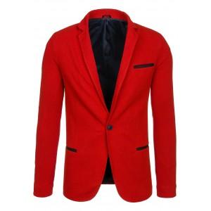 Pánské společenské sako červené barvy