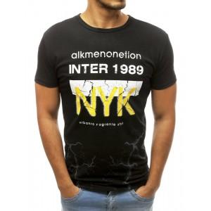 Pánské triko s krátkým rukávem v černé barvě