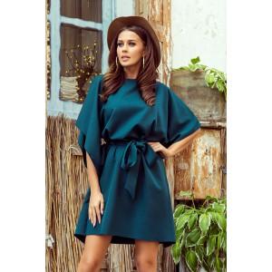 Trendy dámské šaty SOFIA v petrolejově zelené barvě