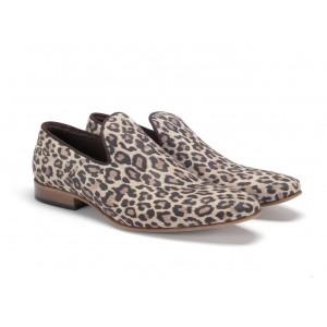 Leopardí pánské kožené mokasíny COMODO E SANO