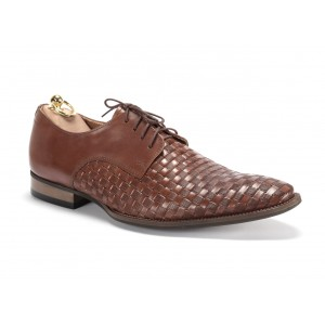 Elegantní pánské kožené boty v hnědé barvě