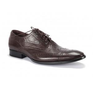 Kvalitní pánské kožené boty v hnědé barvě