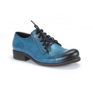 Kvalitní pánské kožené boty COMODO E SANO v modré barvě
