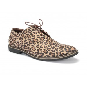 Kožené pánské extravagantní boty v tygrovaná motivu