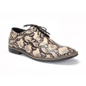 Pánské kožené boty COMODO E SANO na vázání na vázání