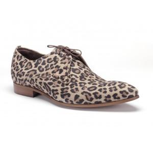 Originální pánské kožené boty v tygrovaná motivu