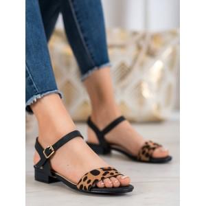 Dámské nízké sandály leopardí vzor