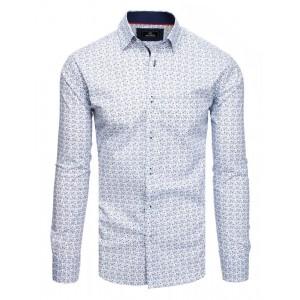 Elegantní pánská vzorovaná košile s dlouhým rukávem