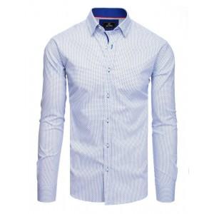 Vzorovaná pánská košile slim fit s dlouhým rukávem
