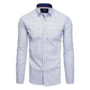 Bílá pánská vzorovaná košile k obleku