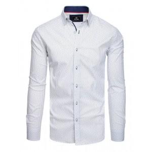 Pánská společenská košile slim fit bílé barvy