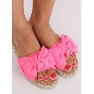 Dámské semišové pantofle v růžové barvě