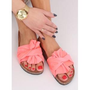 Moderní dámské letní pantofle s mašlí