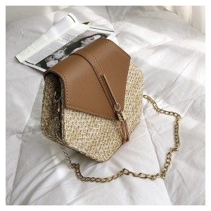 Moderní dámská pletená kabelka na rameno