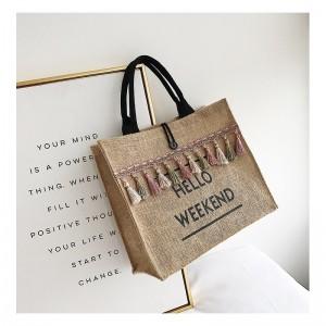 Pletená dámská kabelka na nákup
