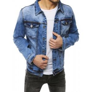 Klasická pánská riflová bunda v módní modré barvě