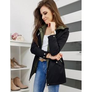 Stylová dámská oboustranná bunda černé barvy