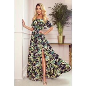 Letní dámské dlouhé maxi šaty s rafinovaným rozparkem