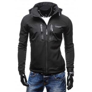 e39e755ea80 Pánská černá kožená bunda - manozo.cz