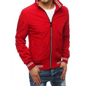 Trendová červená přechodná bunda s podšívkou