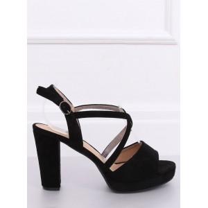 Vysoké dámské letní sandály v černé barvě