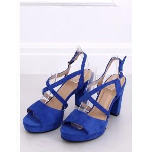Semišové dámské sandály na léto na vysokém podpatku