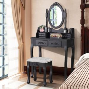 Kvalitní toaletní stolek v černé barvě