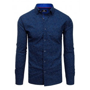 Stylová modrá pánská košile k obleku