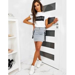 Dámská letní mini sukně s ozdobnými ramínky