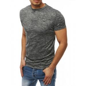 Pohodlné pánské tričko s krátkým rukávem v šedé barvě