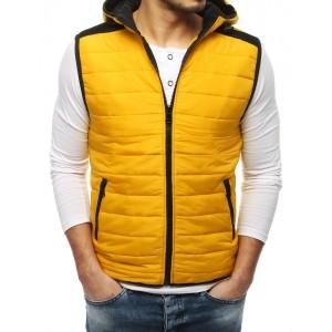 Pánská jarní vesta ve žluté barvě