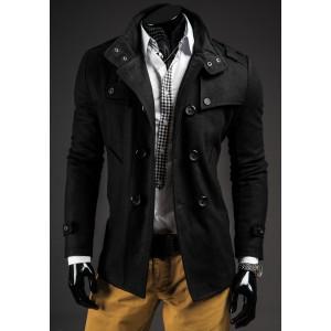 Spoločenký pánský černý kabát