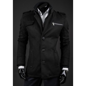 Jarní kabát černé barvy