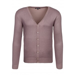 Hnědý pánský svetr na knoflíky