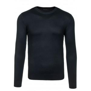 Černý pánský svetr s klasickým výstřihem