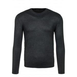 Pánský šedý svetr na zip s knoflíky - manozo.cz cbe8471a07