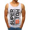 Bílé pánské letní tílko s nápisem SUPER HOT
