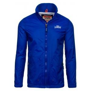 Modrá jarní pánská bunda s kapsami