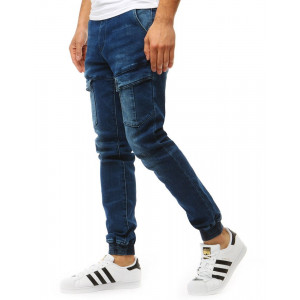 Pohodlné pánské jogger džíny v modré barvě
