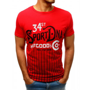 Sportovní červené pánské tričko na léto
