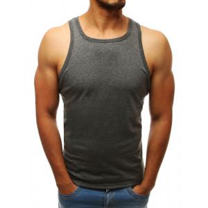 Pánské triko bez rukávů tmavě šedé barvy