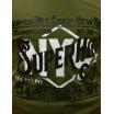 Moderní zelené pánské tričko na léto s nápisem SUPER HOT
