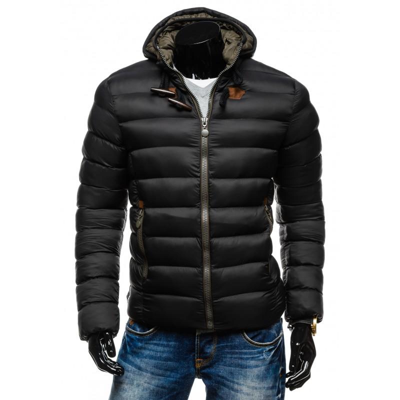 786162c7170 Elegantní pánská zimní bunda černé barvy - manozo.cz